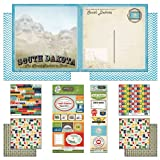 Scrapbook Customs Themed Paper and Stickers Scrapbook Kit, South Dakota Vintage