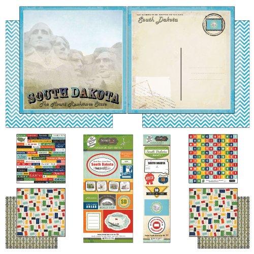 (Scrapbook Customs Themed Paper and Stickers Scrapbook Kit, South Dakota Vintage)