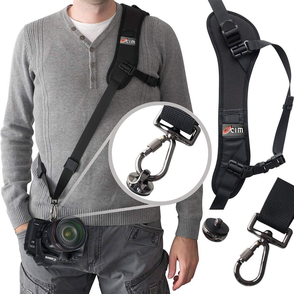 Camera Strap,Ocim Camera Sling Strap with Quick Release, Adjustable and Comfortable Neck/Shoulder Belt for DSLR/SLR Camera (Nikon, Canon, Sony) Universal Belt Women/Men by Ocim