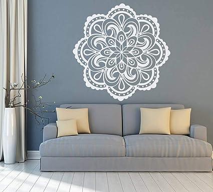 Amazon.com: Vinilo decorativo para pared, diseño de mandala ...