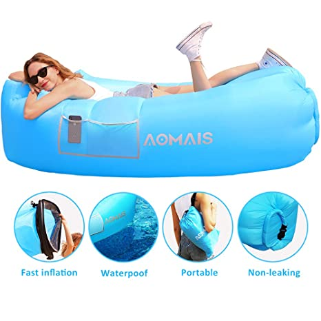 Sports & Entertainment Camping & Hiking Inflatable Sleeping Bag Lounger Air Sofa Anti-air Leaking Design For Indoor Or Outdoor Use Inflatable Lounge For Camping Picnics