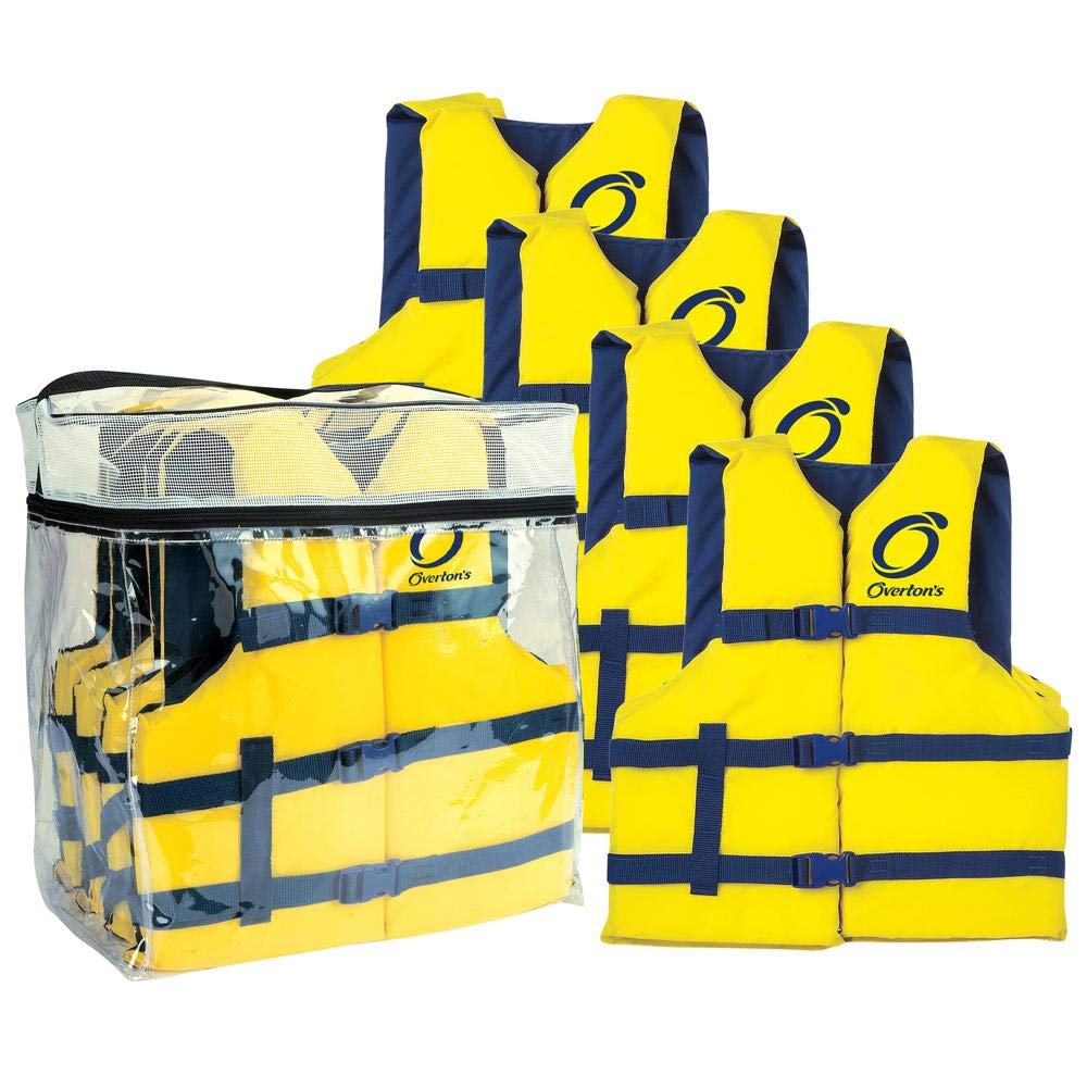 Overton's Universal Adult Life Jackets 4-Pack by Overton's