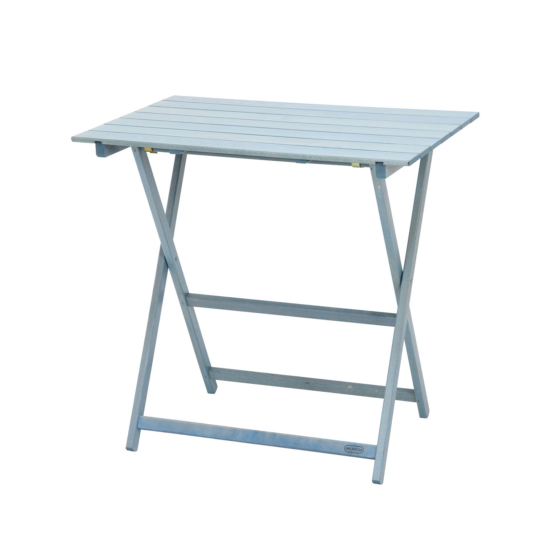不二貿易 イタリアン フォールディングテーブル 幅75cm ライトブルー 97272 B01N2LYLF1  ライトブルー