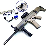 ZHENDUO Toy Gun JM Scar V2 Gel Ball Blaster Electric Water Gun Outdoor Hobbies