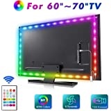 LED TV Backlight, MYPLUS 13ft Strip Lights with Remote Control and USB Powered, DIY Color Changing Bias Lighting with Scenes