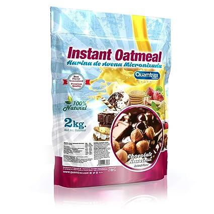 Quamtrax Nutrition Avena Instantánea, Sabor Chocolate Hazelnut - 2000 gr