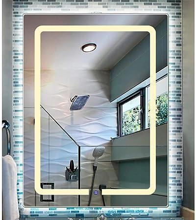 Mirror Espejo baño Espejo Colgador de Pared Espejo de luz Espejo de baño Inteligente Claro y no deformado + 600 * 800mm: Amazon.es: Hogar