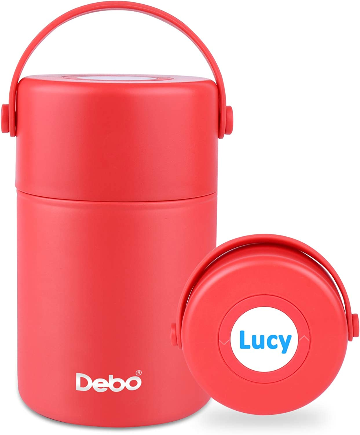 Debo Soup Thermos Bpa-Free 18/8 Stainless Steel Keeps Food Liquid Hot Or Cold for 24 Hours 27 Ounce Thermos Food Jar for Women and Kids Thermos for Hot Food