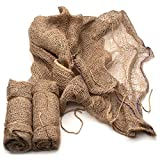 Set of 3 Natural Jute 36 x 36 Leaf Sacks