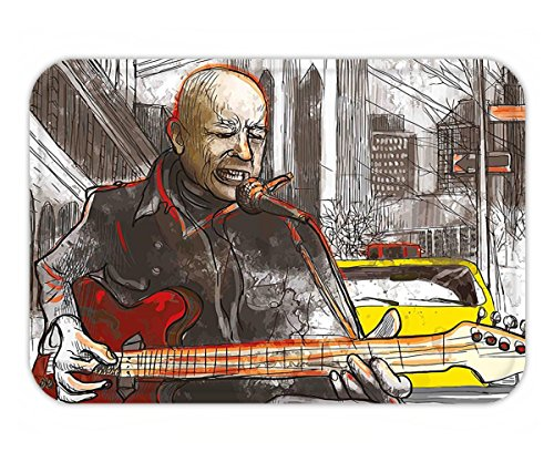 Minicoso Doormat Modern Street Musician Man Singing Playing Guitar Show Performance Grunge Urban Artwork - Predator The Of Pictures Me Show