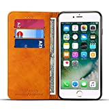 Wallet Case Compatible iPhone 6 / iPhone 6s, Premium PU Leather Wallet Case Flip Folio [Kickstand Feature] with ID&Credit Card Pockets for iPhone 6s/ 6 4.7 inch Khaki