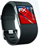 Fitbit Surge Folie - 3 x atFoliX FX-Shock-Clear stoßabsorbierende ultraklare Panzerfolie Displayschutzfolie