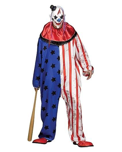 Traje del Payaso de Circo de Terror con la máscara One Size ...