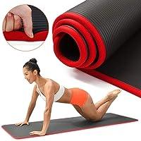HEILAODA 10mm Yoga Mat Extra Gruesa 1830 * 610 mm Antideslizante Mat Almohada for los Hombres Aptitud de Las Mujeres Insípido Pads Gimnasio Yoga Mat Pilates