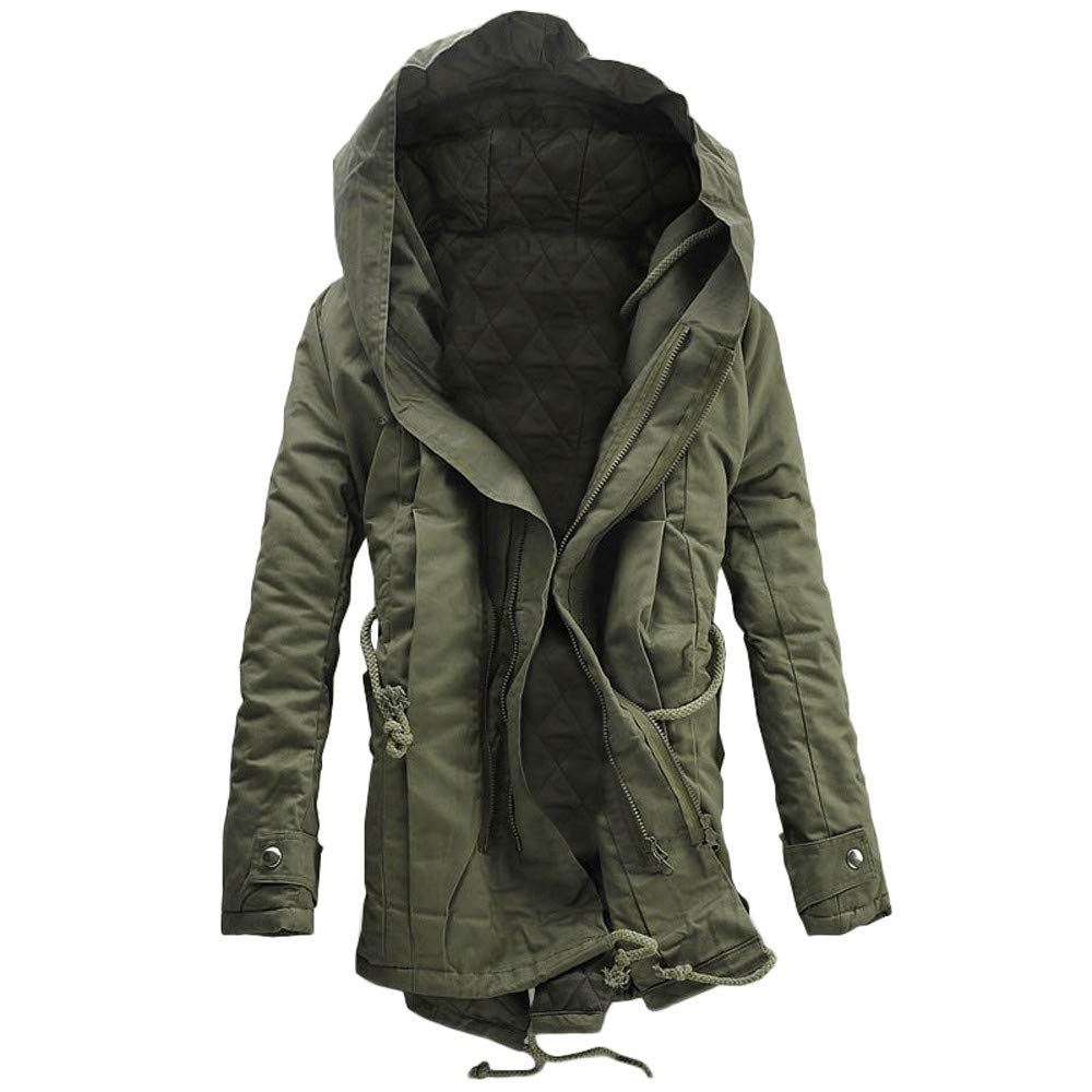 Pandaie-Mens Product Work Wear for Men Winter. Men Winter Warm Hooded Zip Thick Solid Fleece Coat Outwear Wind Jacket