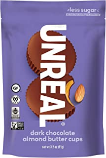 product image for UNREAL Dark Almond Butter Cups, Chocolate, 9.6 Ounce