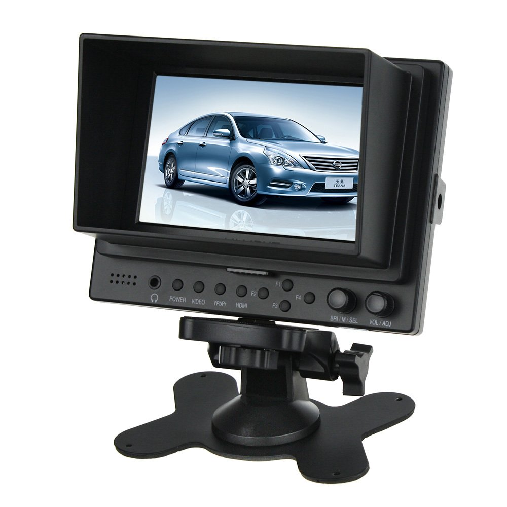 """Amazon.com: LILLIPUT 569GL-NP/HO/Y 5"""" HD LCD Field Monitor + HDMI IN/OUT Vedio IN/OUT by Camgeeker: Computers & Accessories"""