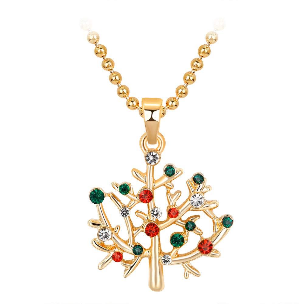 CZYCO Christmas Tree Hat New Jewelry Necklace for Women Romantic Fashion Classic Luxury Rhinestones