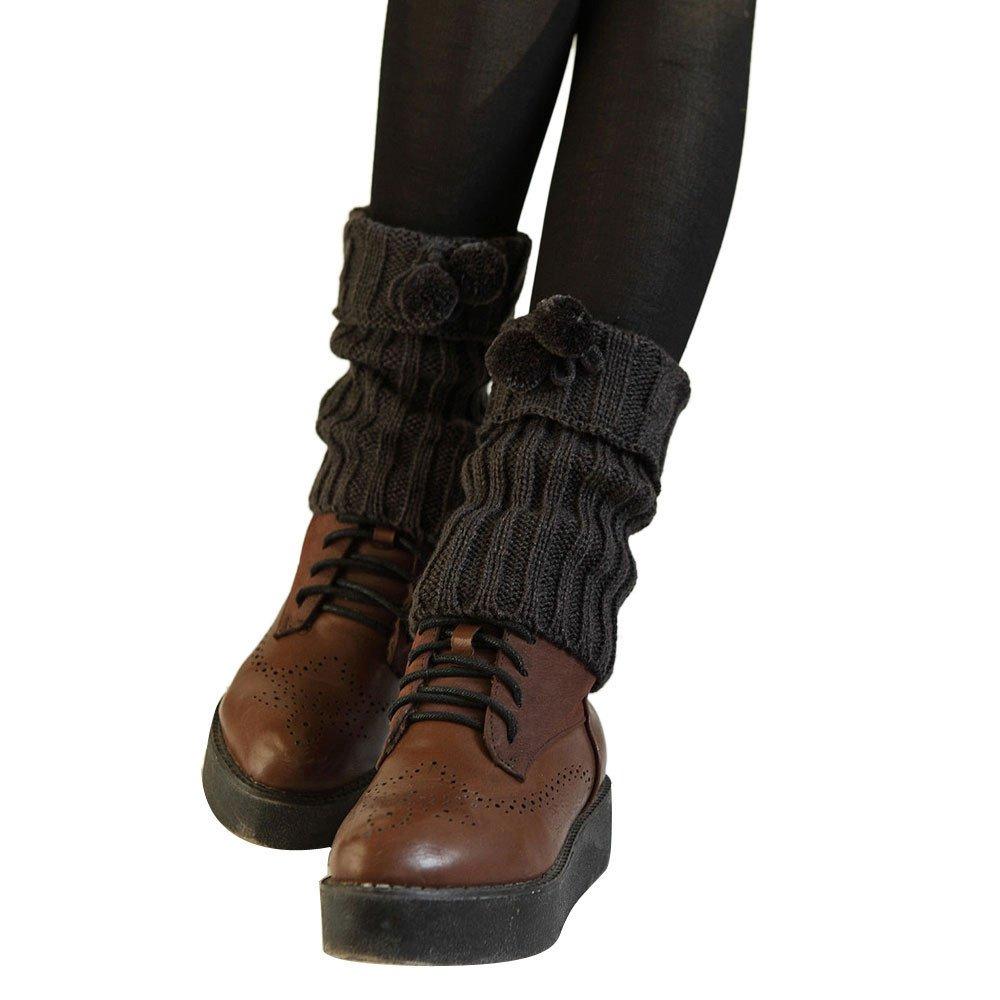 ODJOY-FAN-twist Con la palla Breve paragrafo Calzini Copriscarpe per calzini con scaldamuscoli in maglia due paia di alla moda e morbidi, da donna Scaldamuscoli inverno