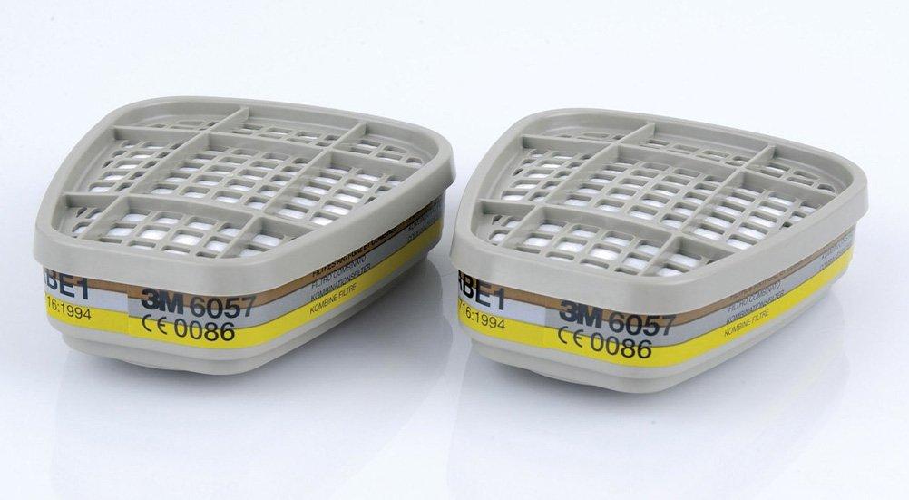 3 M 6057 Gas y vapor filtro de cartucho, ABE1 –  , 1 par (Pack de 4) ABE1- 1par (Pack de 4) 3M
