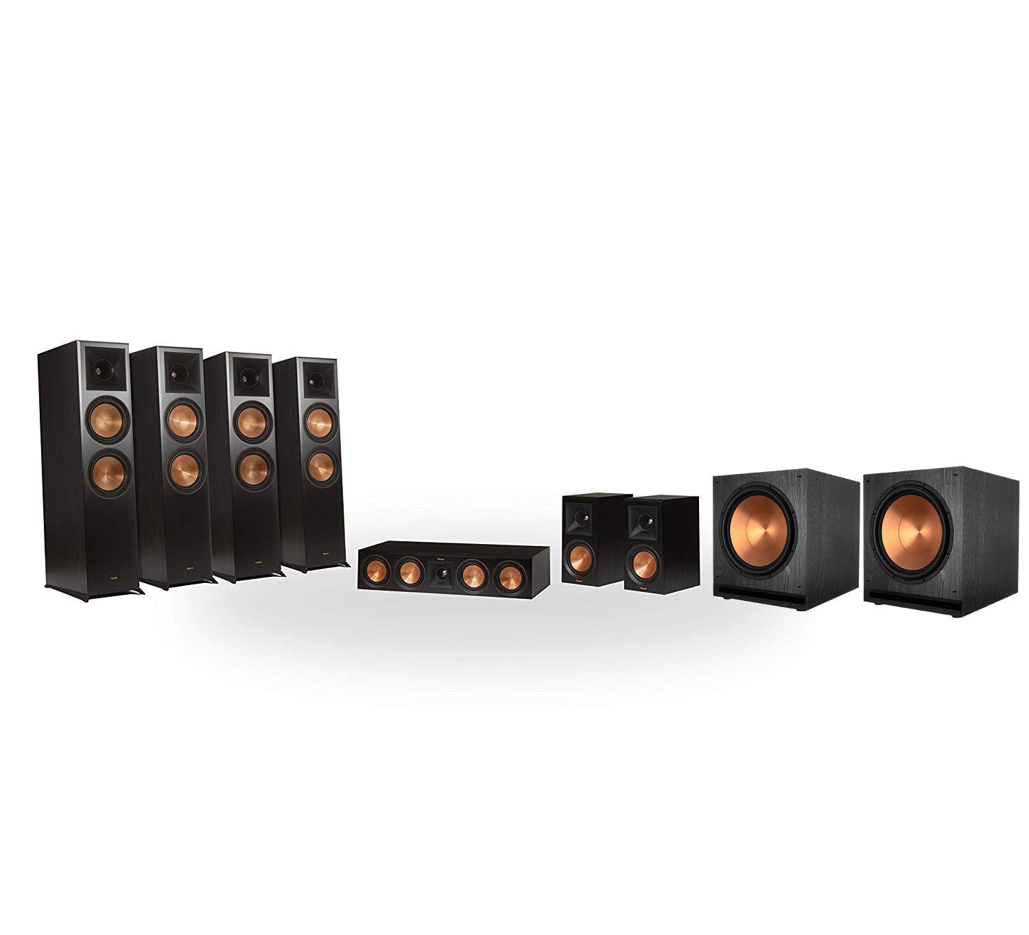 Klipsch RP-8060FA 7.2.4 Dolby Atmos Home Theater System - Ebony