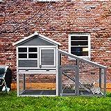 Tangkula Rabbit Hutch Indoor Outdoor, Wooden