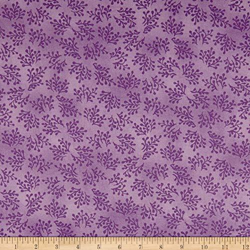 - Maywood Studio Aubergine Berry Sprigs Light Fabric, Blackberry, Fabric By The Yard