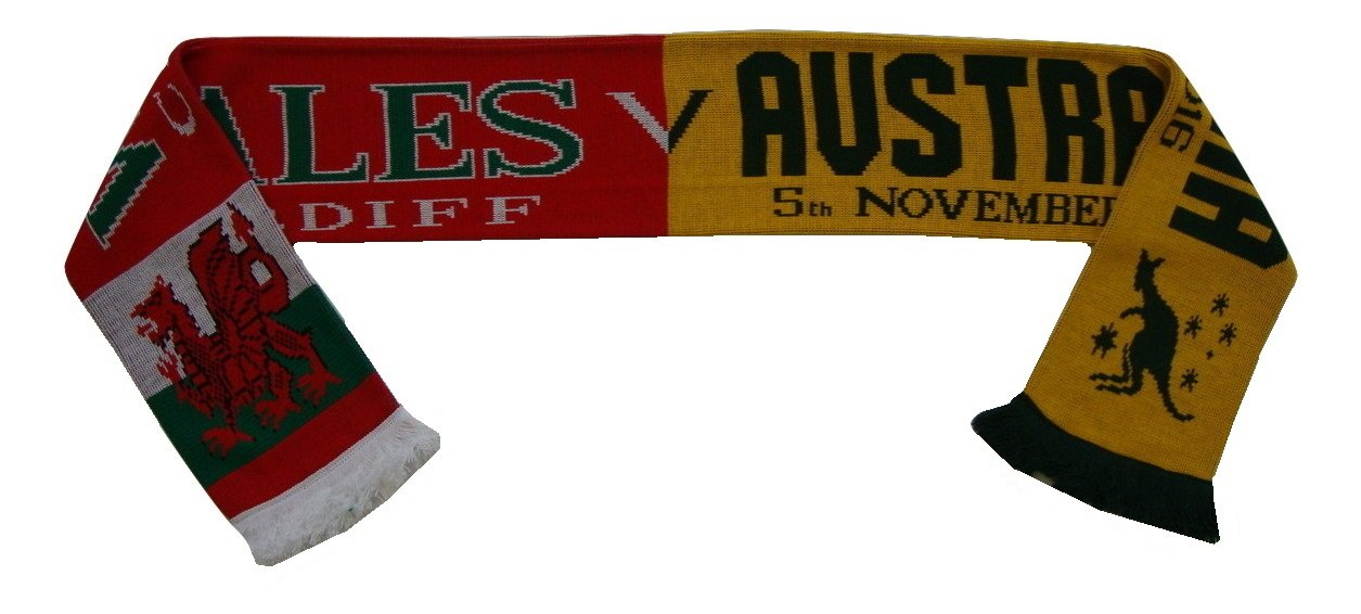 Wales vs Australia November 2016 Rugby Union Match Day Scarf