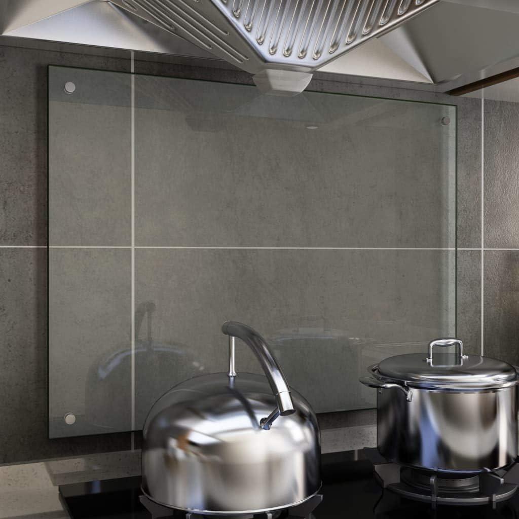 Festnight Pannello da Parete per Cucina in Vetro,Paraschizzi per Cucina da Parete in Vetro Temperato,Paraschizzi da Parete in Vetro 70x40 cm//70x50 cm//70x60 cm//80x50 cm//90x50 cm//100x60 cm