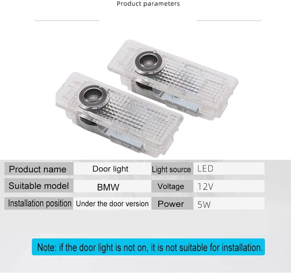4 Pack Led Car Door Light Projector Logo Welcome Light Laser Ghost Shadow Car door Warning Lamp For BMW 3 5 7 Series E65 E66 F01 F02 E92 M3 E90 F10 F30 E60 M5 X1 X3 X4 X5 X6 GT Series