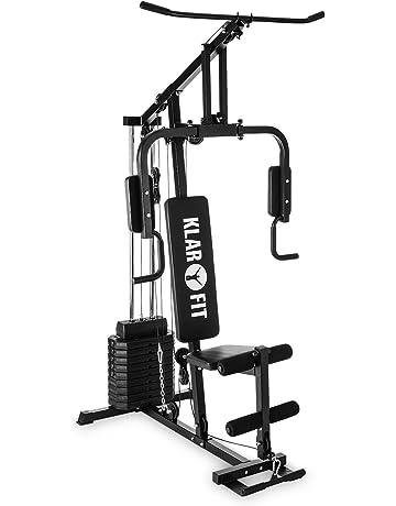 Klarfit Strongbase Multiestación de musculación (Entrenamiento Profesional, múltiples Ejercicios para Brazos, Espalda,