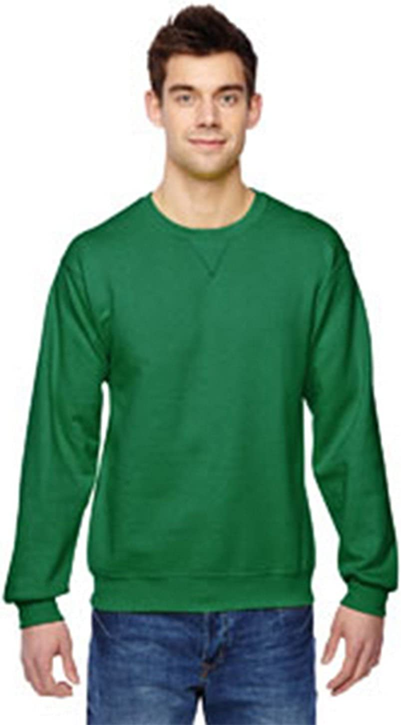 Fruit of the Loom 7.2 oz. Sofspun Crewneck Sweatshirt, XL, CLOVER