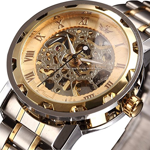 ALPS Men's Skeleton Stainless Steel Mechanical Watch Dress Watch