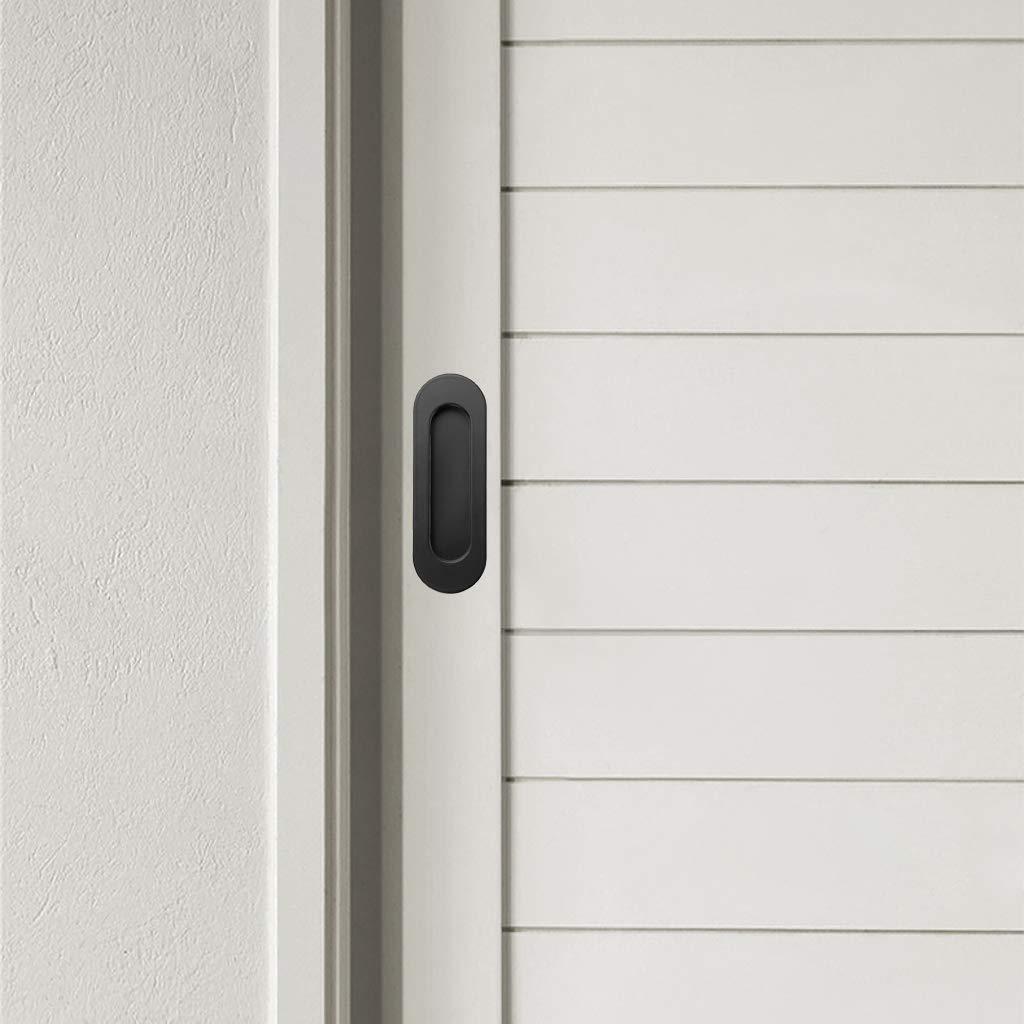 empotrables IGNPION Tiradores para puerta corredera de acero inoxidable rectangulares armario o caj/ón 2 unidades para puerta