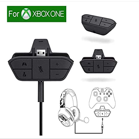 922d4d485a1 Amazon.com: Xbox Stereo Headset Adapter Audio Game For Microsoft One  Controller Dr - Chat And Synchronous One Stereo Headphone Accreate Best  Converter: Home ...