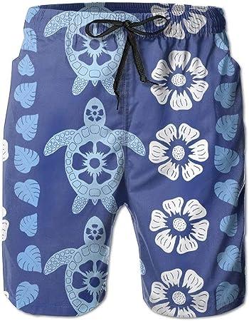 HappyHrs Shorts Casuales con Estampado de Flores Hawaiano para Hombre, bañador, bañador, Pantalones Cortos de Secado rápido y Rendimiento