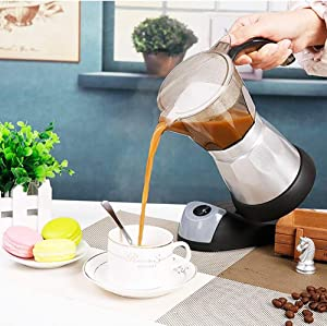 Espresso Machine for Cooker, Large Capacity Electric Pot Moka, Italian Coffee Maker, for Home Office Use(300ml)