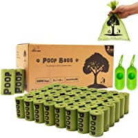 EXPAWLORER 1000 Pcs Pet Poop Bags Set 9x13 inches Biodegradable Dog Waste Bags Set with 2 Dispenser Environment-Friendly…