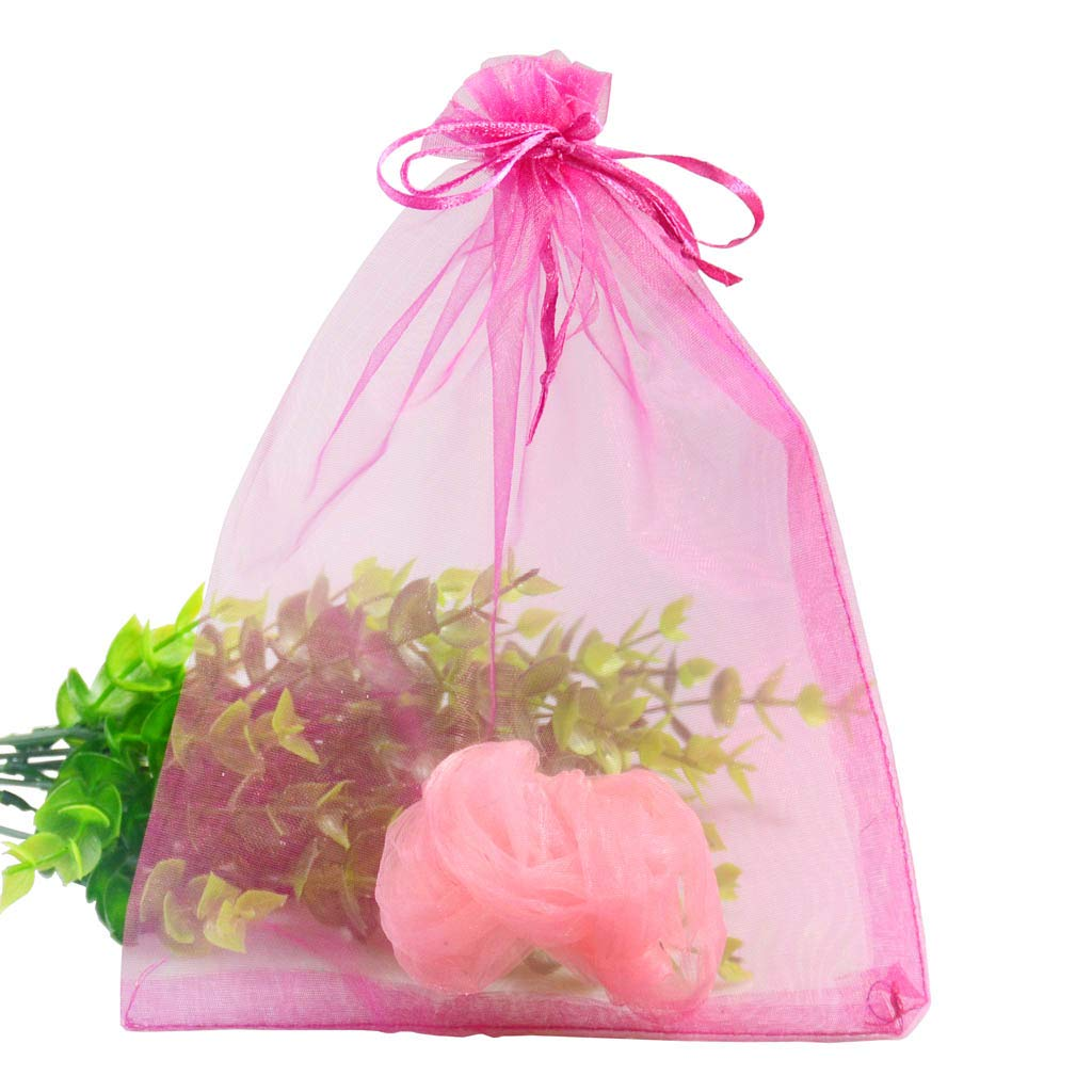 UHANGETH 100 Pcs 6x9 Inch Drawstring Organza Gift Bags Jewelry Party Wedding Favor Candy Christmas Pouches Green