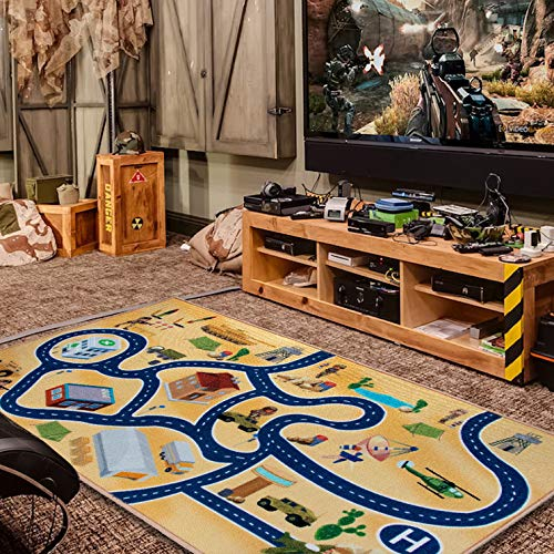"2019 Kids Rug Area Play Mat Car Carpet With Road 4'11"" X 2"