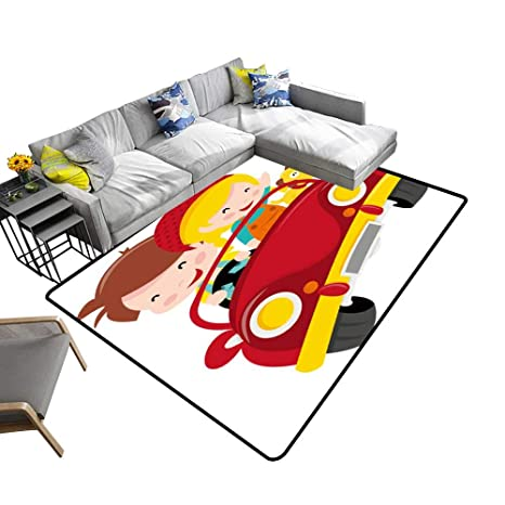 Fine Amazon Com Silky Smooth Bedroom Mats A Cartoon Two Kids Boy Download Free Architecture Designs Viewormadebymaigaardcom