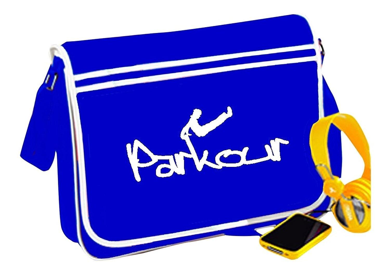 PARKOUR MESSENGER BAG blue RETRO urban freerunning free runner - T shirt in shop