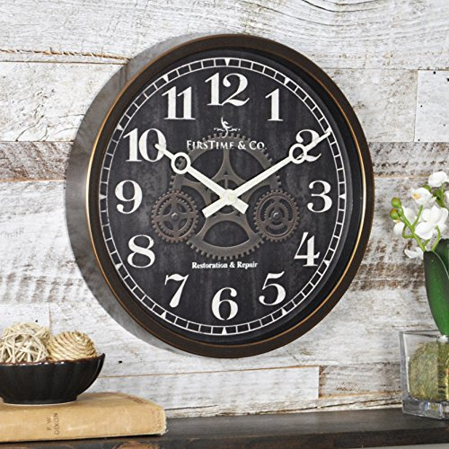 FirsTime 10041 Industrial Gears Wall Clock, 1 Piece