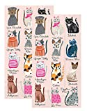 Ideal Home Range 3-Ply Paper Cool Cats, 16 Count Guest Towel Napkins Set of 2