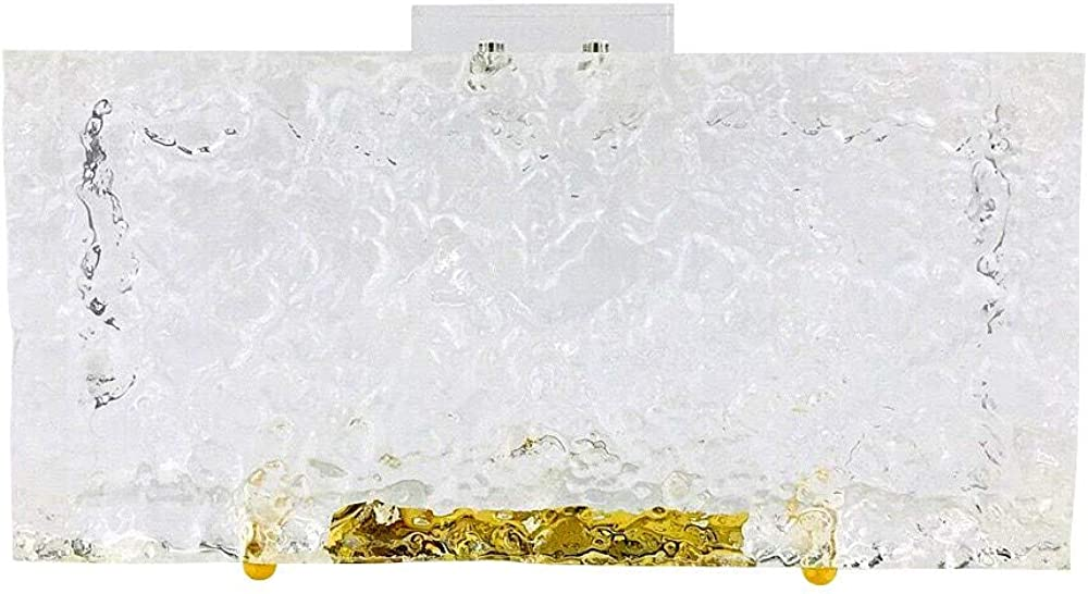 Cute Designer Acrylic Plastic Transparent Clear Clutch Bag Purse Evening Bag