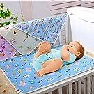 "Cren Baby Infant Waterproof Washable Reusable Cotton Diaper Changing Mat Pad Portable, 35x45cm/13.8""x17.7"", blue"