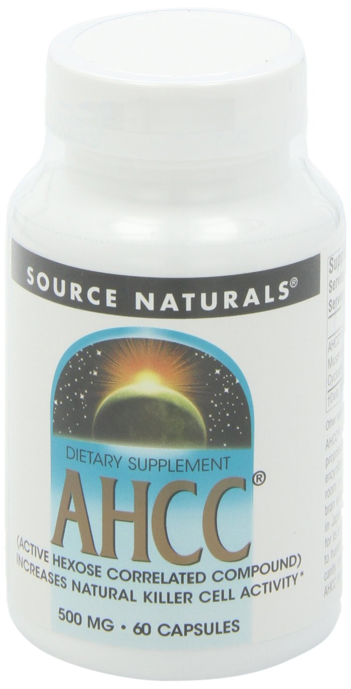 SOURCE NATURALS Ahcc Active Hexose Correlated Compound 500 Mg Capsule, 60 Count by Source Naturals (Image #1)