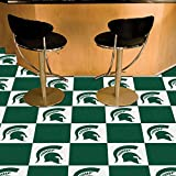 Michigan State Spartans NCAA Team Logo Carpet Tiles