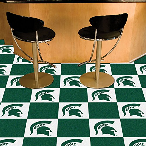 Michigan State Spartans NCAA Team Logo Carpet Tiles by Fanmats