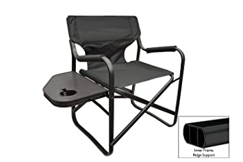 Folding Directors Chair Foldable Chair with Side Table and Cup Holder XL Comfort Design (Black  sc 1 st  Amazon.com & Amazon.com : Folding Directors Chair Foldable Chair with Side Table ...